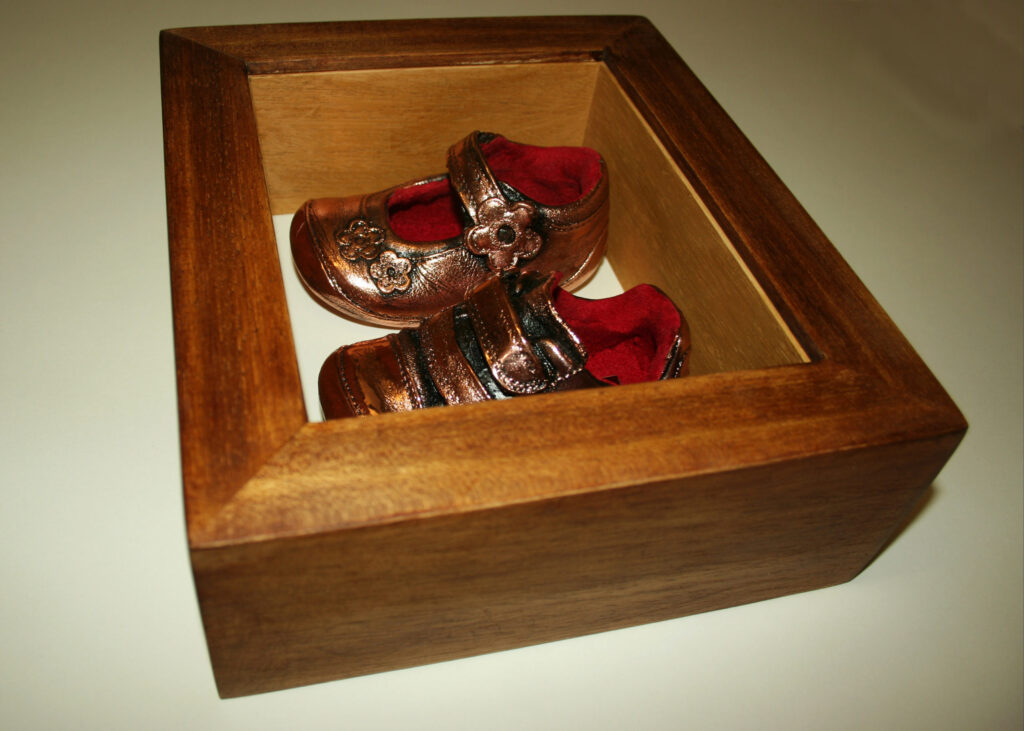 Baby Shoes Shadow Box Frame
