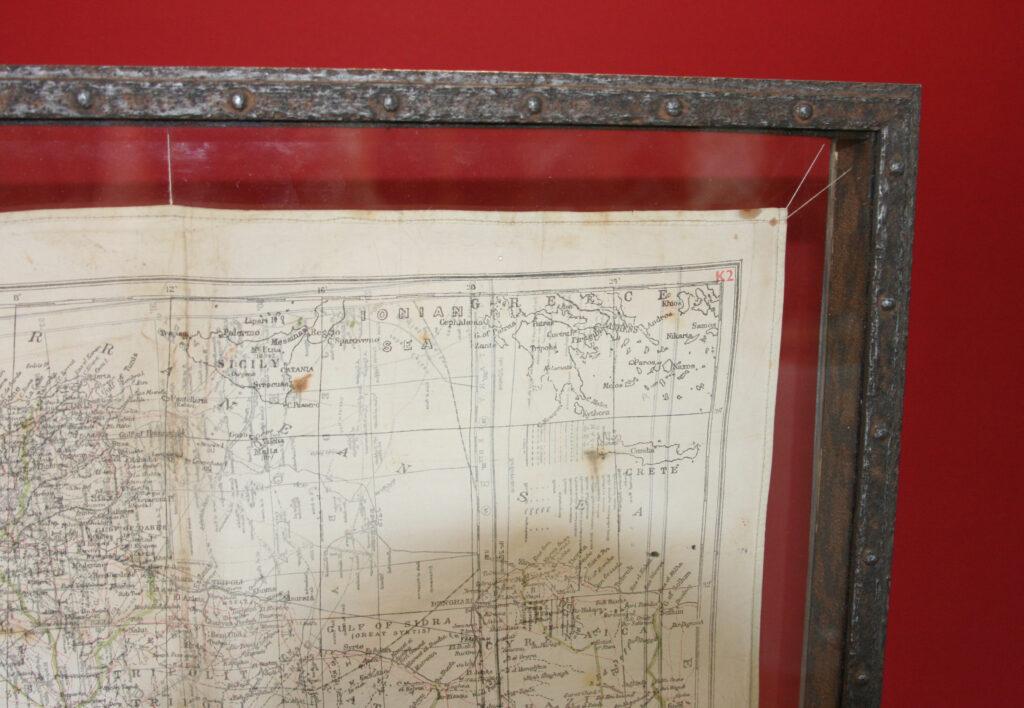 World War II Silk Handkerchief Escape Map